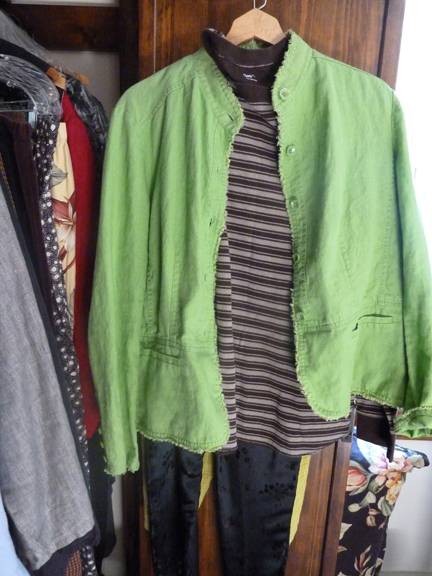 5 green jacket outfit